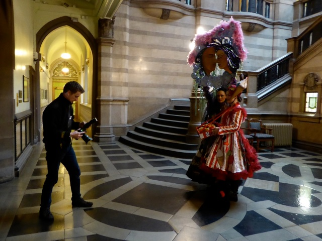 Carnival Costume photo shoot at Bradford City Hall