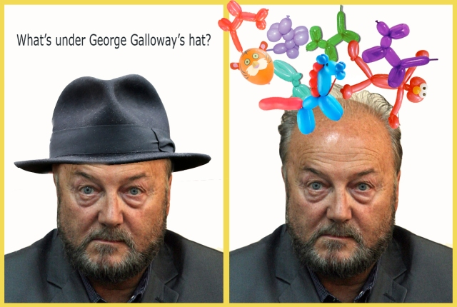 whats under galloways hat balloons