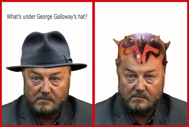 whats under galloways hat darth maul