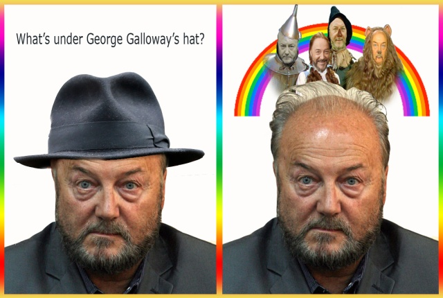 whats under galloways hat over the rainbow