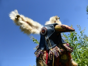 fb blue hood bird 15 Aug 1509