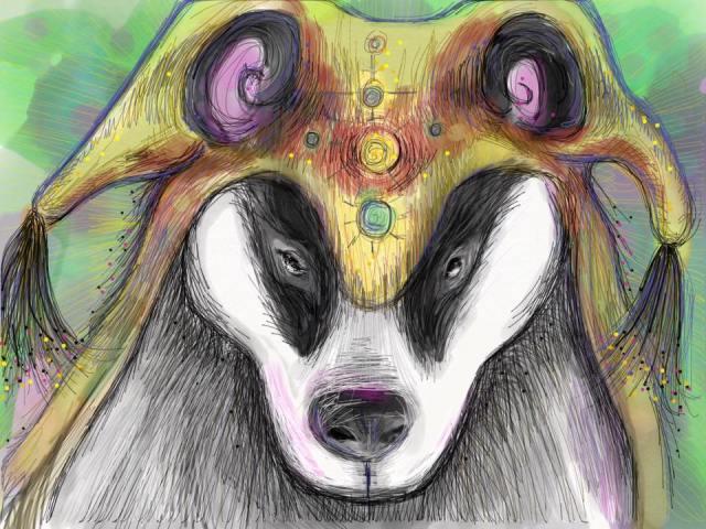 ipad badger shaman