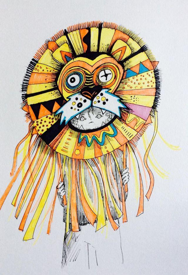 Shangri La lion sketch