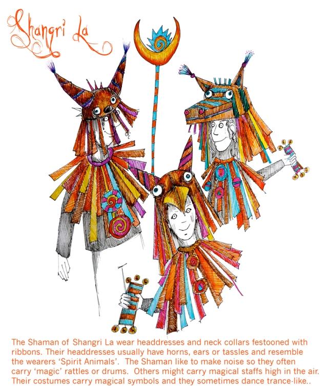 small Shangri La sketches shaman